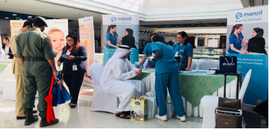 Manzil Health Nurses with customer