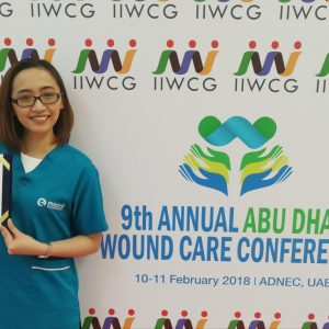 Manzil Health Nurse at Abu Dhabi Wound Care Conference