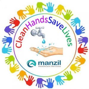 Manzil Health Clean Hands Save Lives Badge