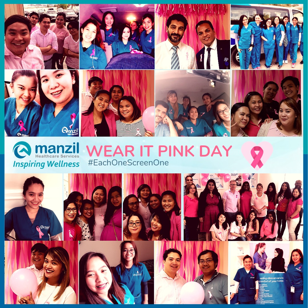 Manzil Health Team in Wear It Pink Day
