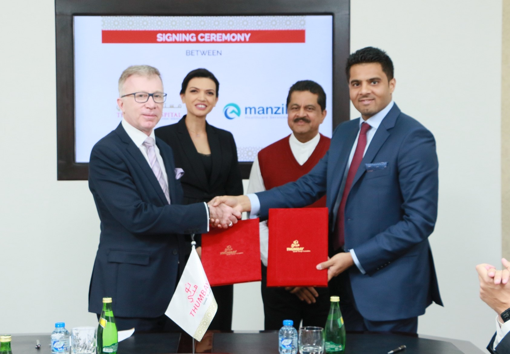 Manzil Healthcare Services signs an agreement with Thumbay Hospital Group