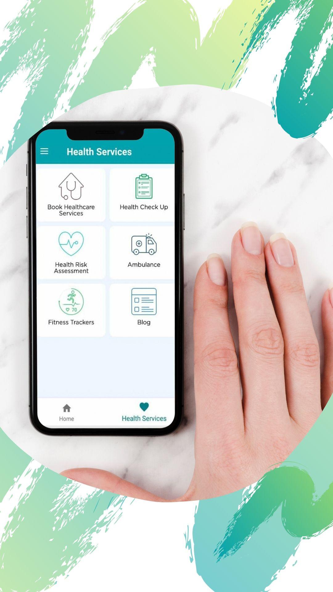 Manzil Health mobile application