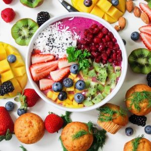 Colorful Fruits in Bowl